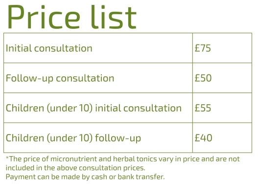 Miranda price list final update Jan 2019